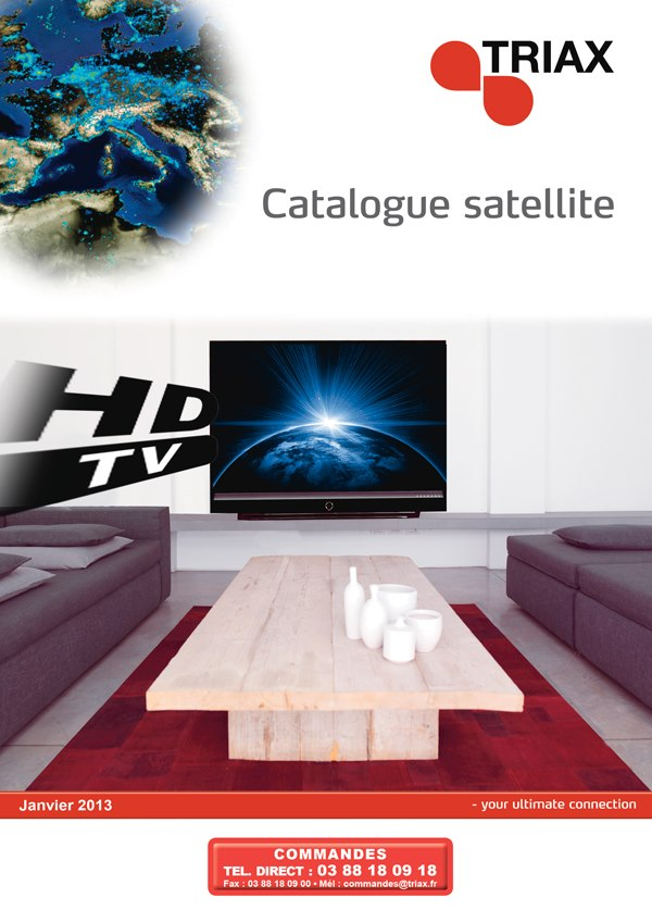 Visuel du catalogue satellite Triax 2013