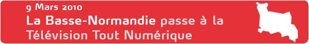 La Basse-Normandie passe à la Télévision Tout Numérique le 9 Mars 2010