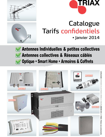 Catalogue TRIAX 2014